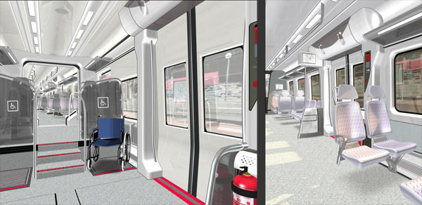 Indoor views of the CIVIA virtual train
